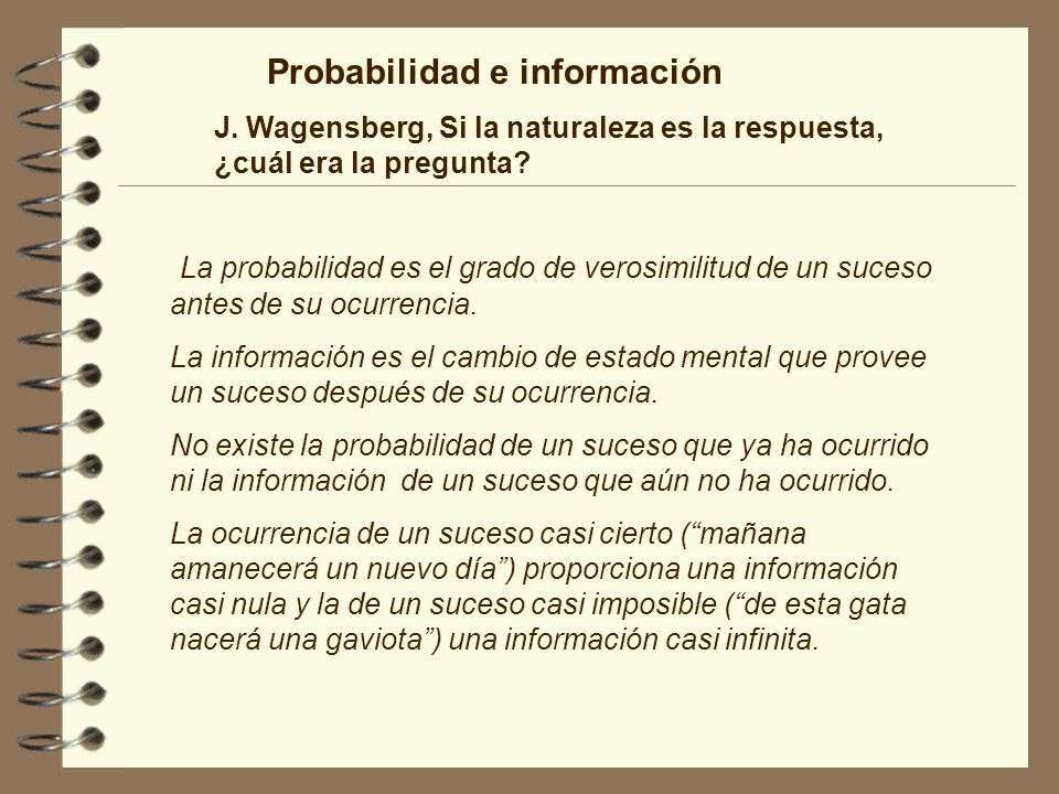 Probabilidad e información