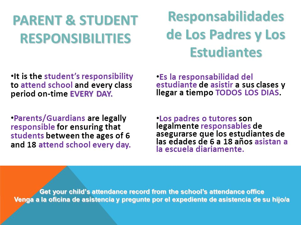 PARENT & STUDENT RESPONSIBILITIES