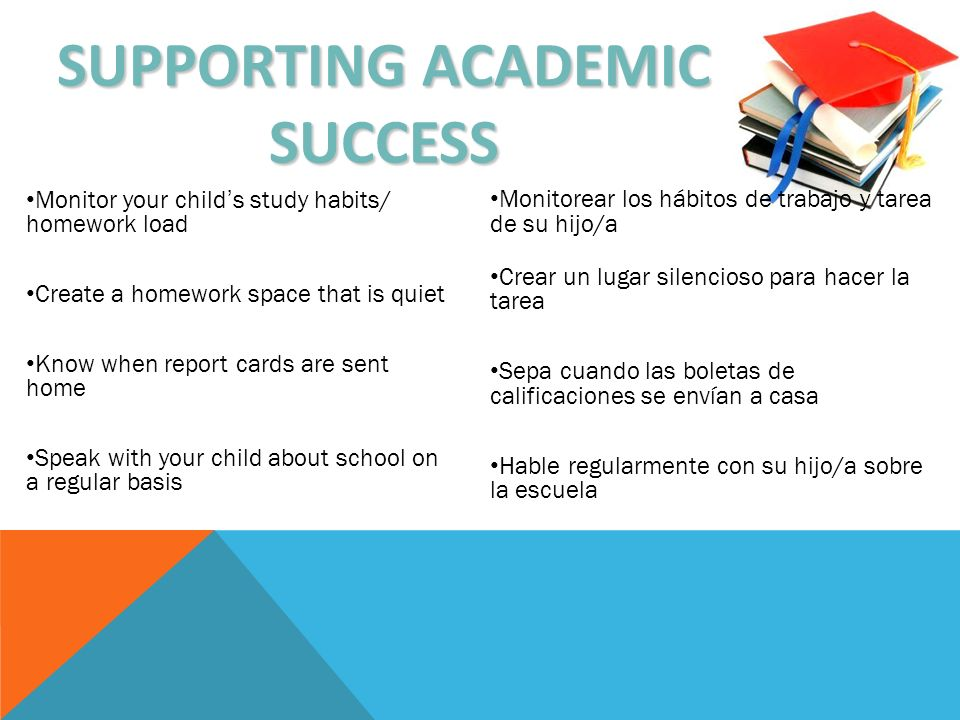 SUPPORTING ACADEMIC SUCCESS