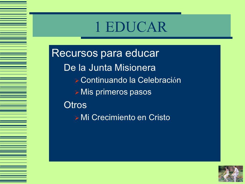 1 EDUCAR Recursos para educar De la Junta Misionera Otros