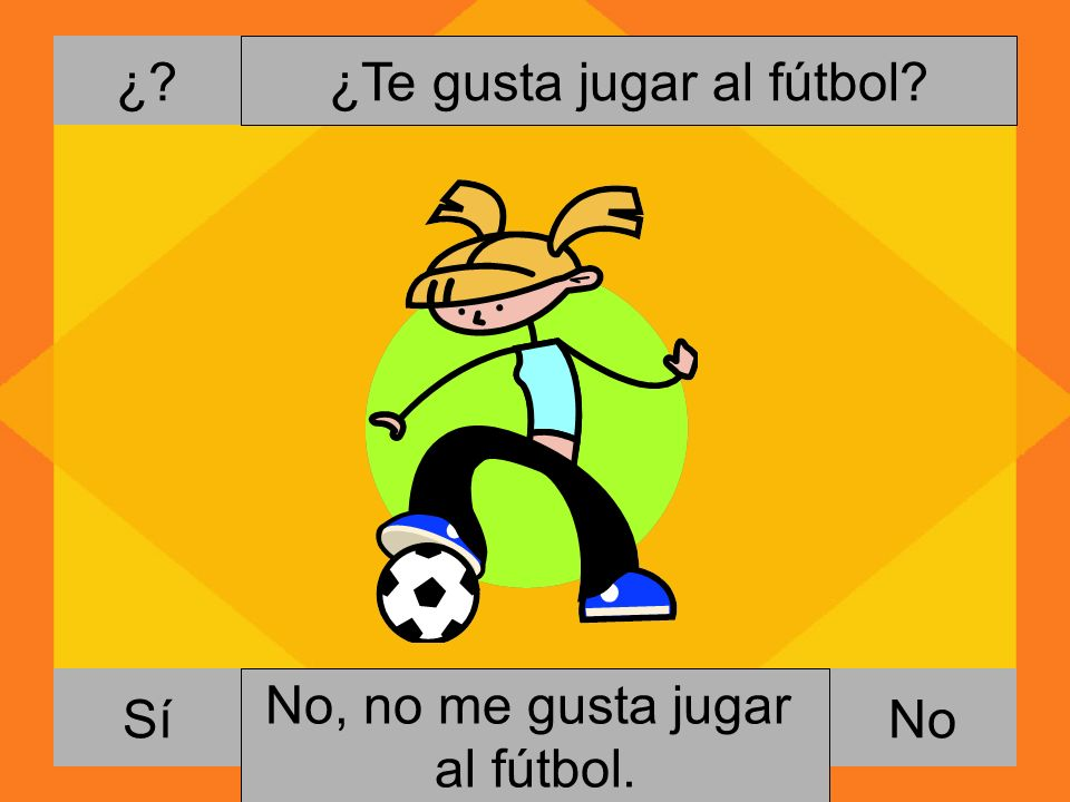 ¿Te gusta jugar al fútbol
