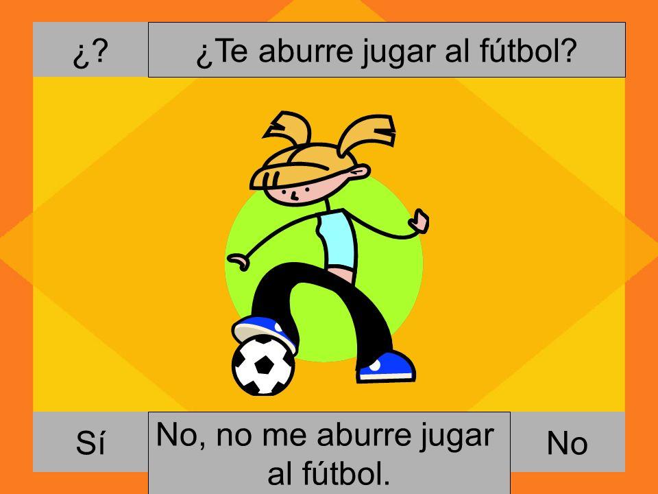 ¿Te aburre jugar al fútbol