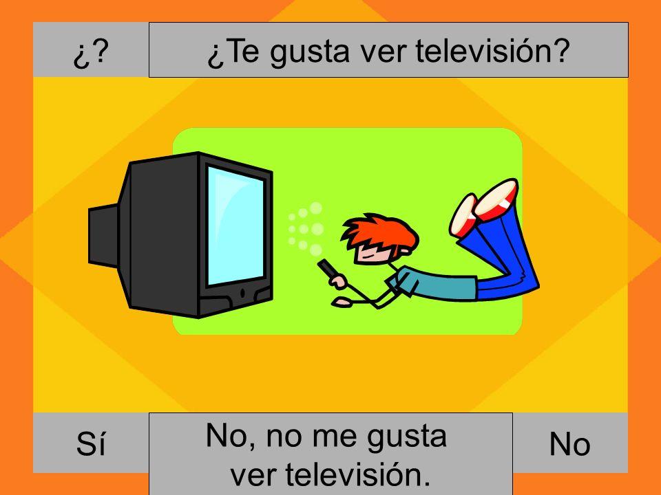 ¿Te gusta ver televisión