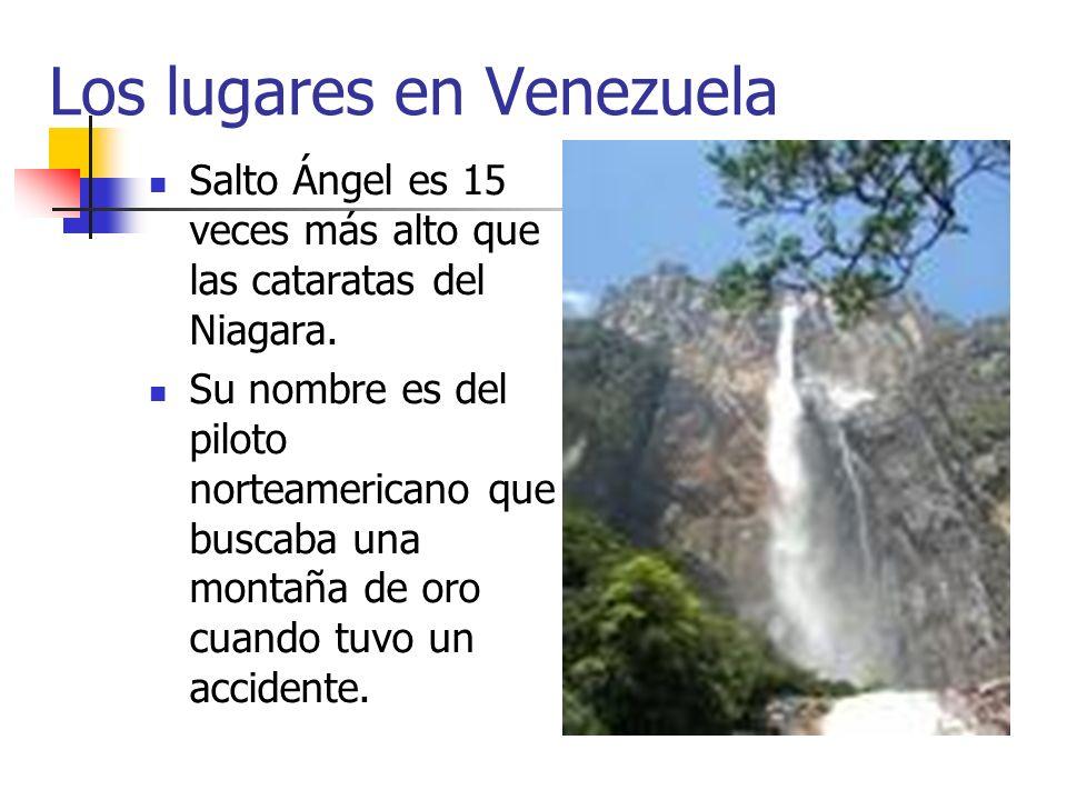 Los lugares en Venezuela