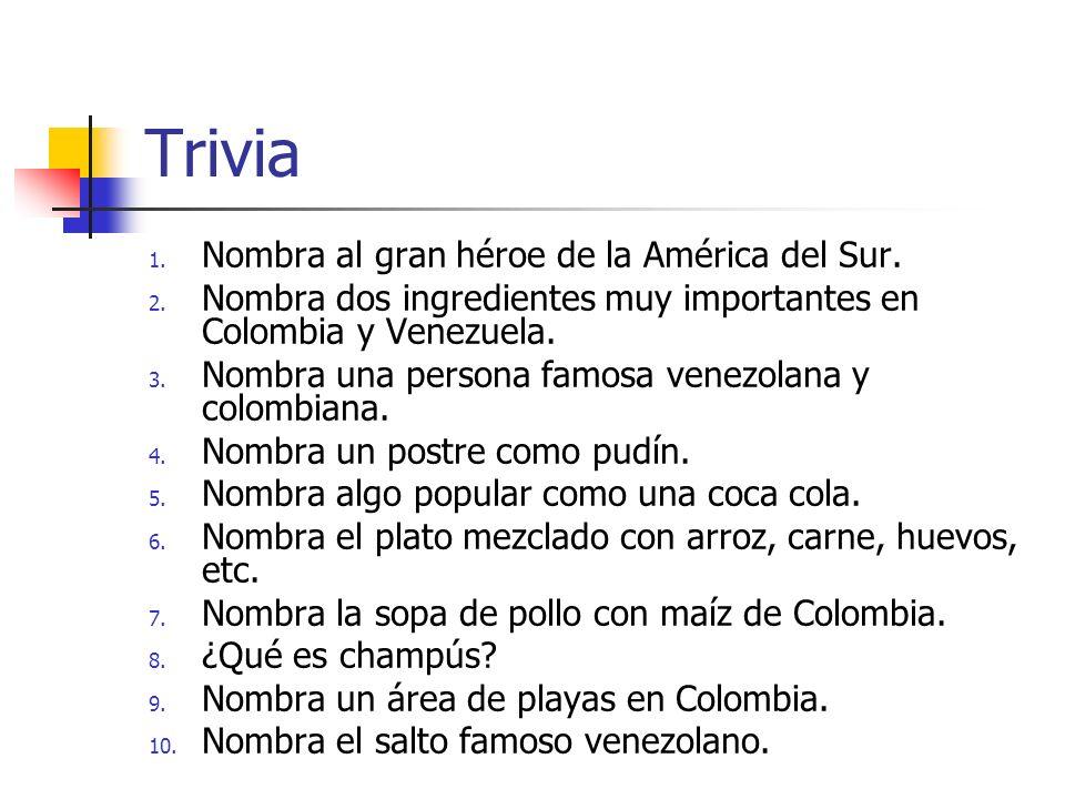 Trivia Nombra al gran héroe de la América del Sur.