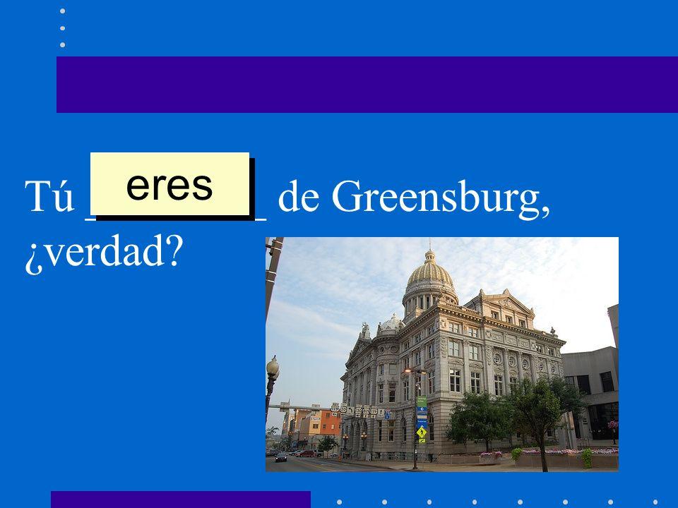 eres Tú ________ de Greensburg, ¿verdad