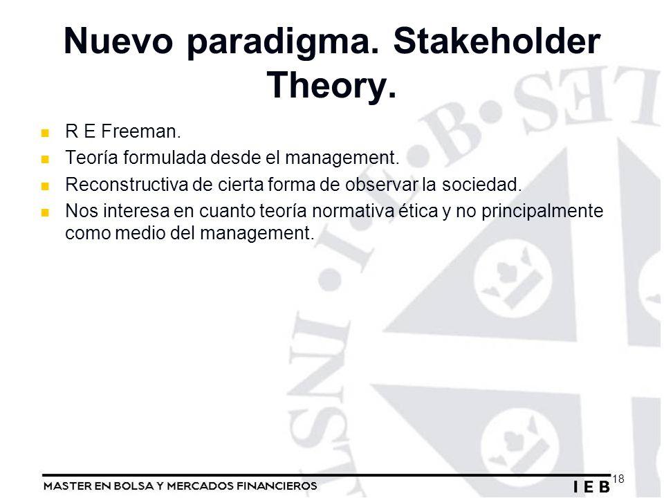 Nuevo paradigma. Stakeholder Theory.