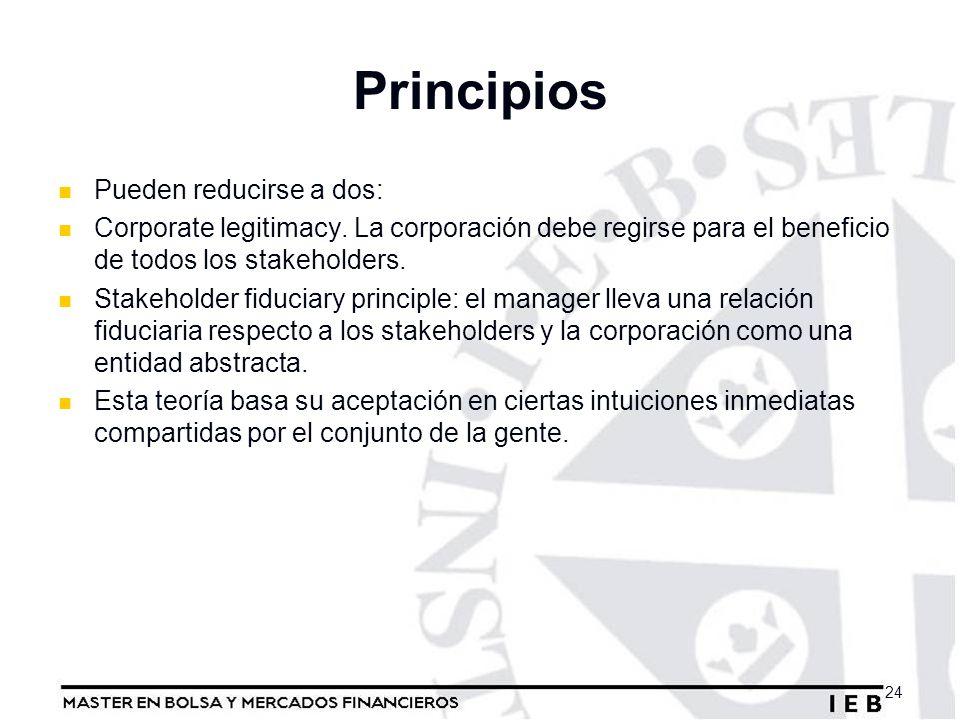 Principios Pueden reducirse a dos: