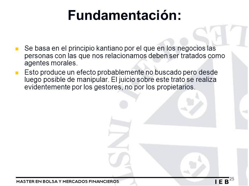 Fundamentación: