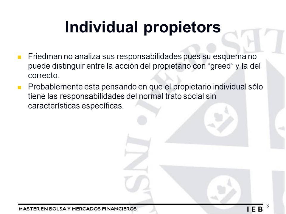 Individual propietors