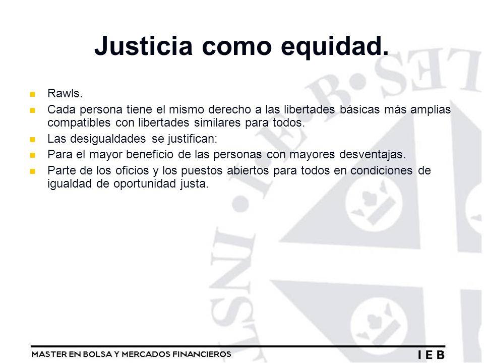 Justicia como equidad. Rawls.