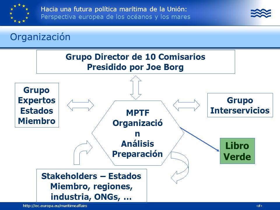 Organización Libro Verde Grupo Director de 10 Comisarios