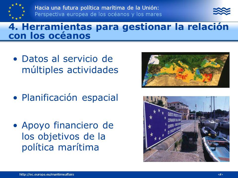 4. Herramientas para gestionar la relación con los océanos