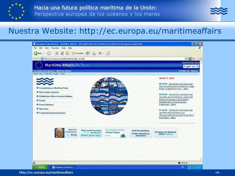 Nuestra Website: http://ec.europa.eu/maritimeaffairs