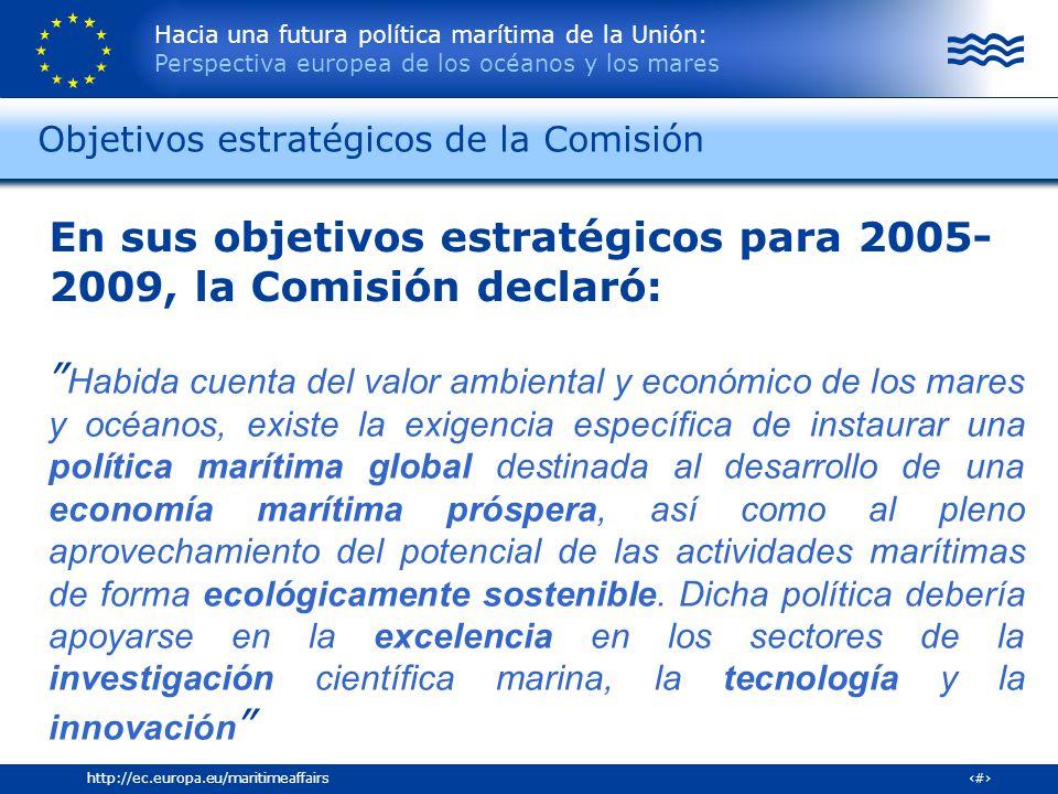 Objetivos estratégicos de la Comisión
