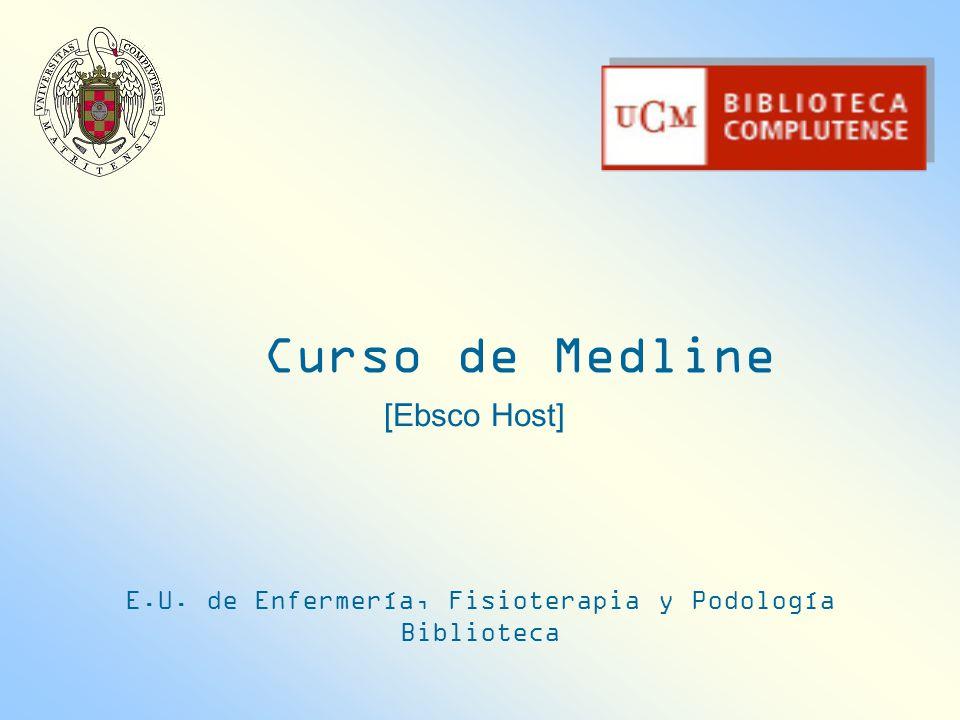 E.U. de Enfermería, Fisioterapia y Podología