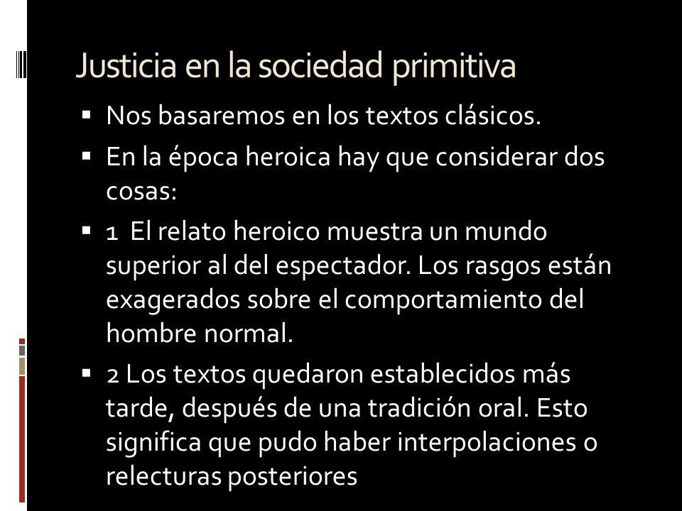 Justicia en la sociedad primitiva