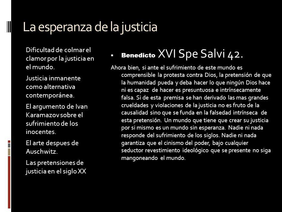 La esperanza de la justicia