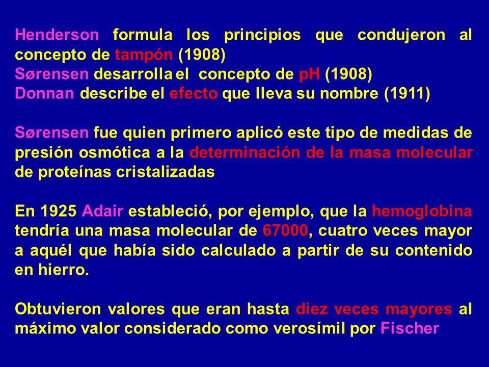 Henderson formula los principios que condujeron al concepto de tampón (1908)