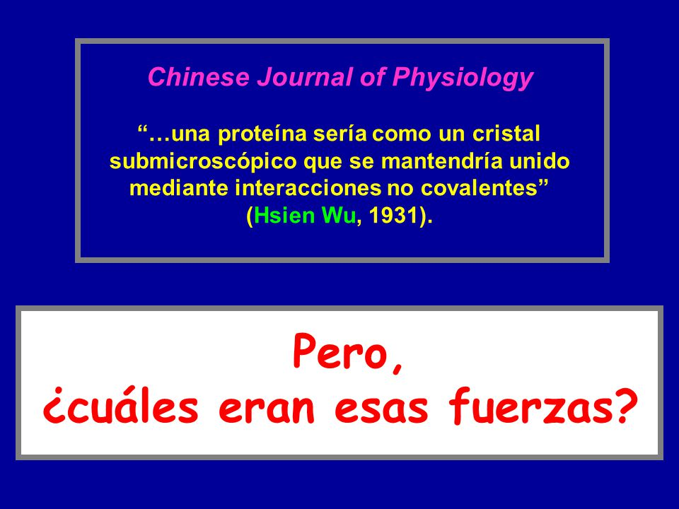 Chinese Journal of Physiology ¿cuáles eran esas fuerzas