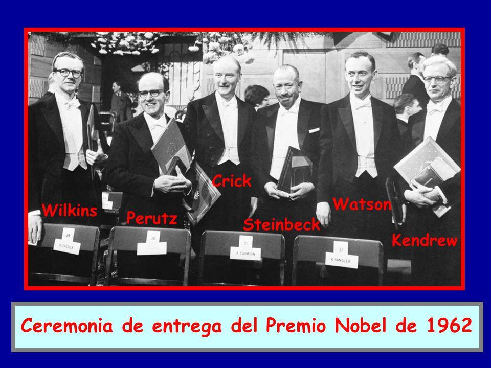 Ceremonia de entrega del Premio Nobel de 1962