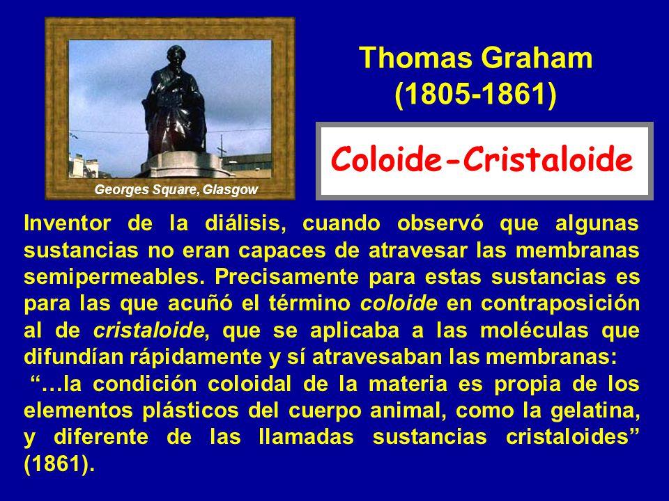 Coloide-Cristaloide Thomas Graham (1805-1861)