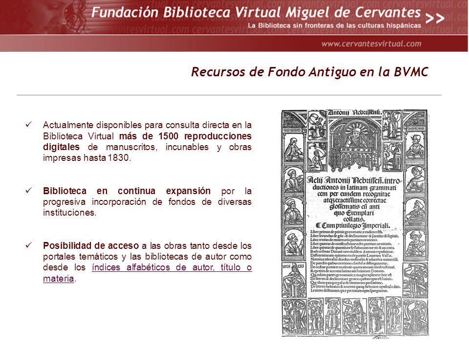 Recursos de Fondo Antiguo en la BVMC