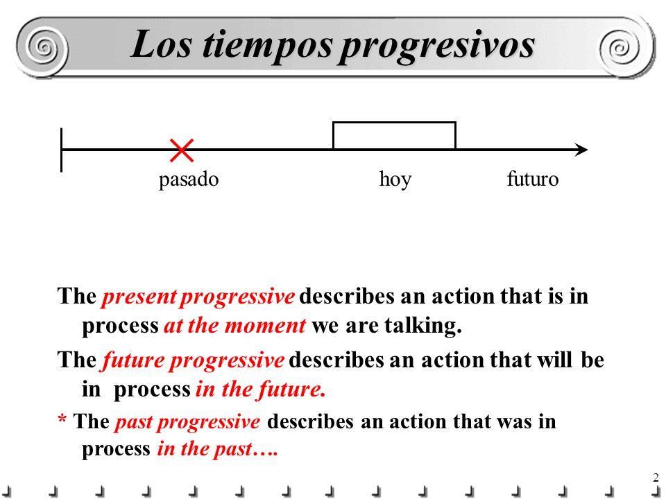 Los tiempos progresivos
