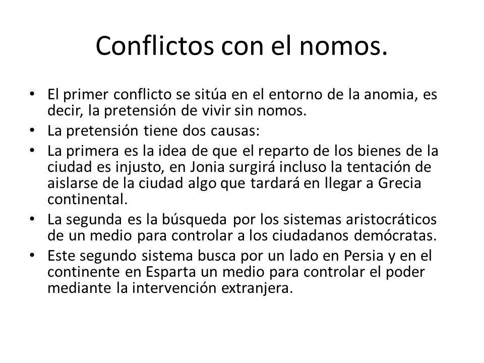 Conflictos con el nomos.