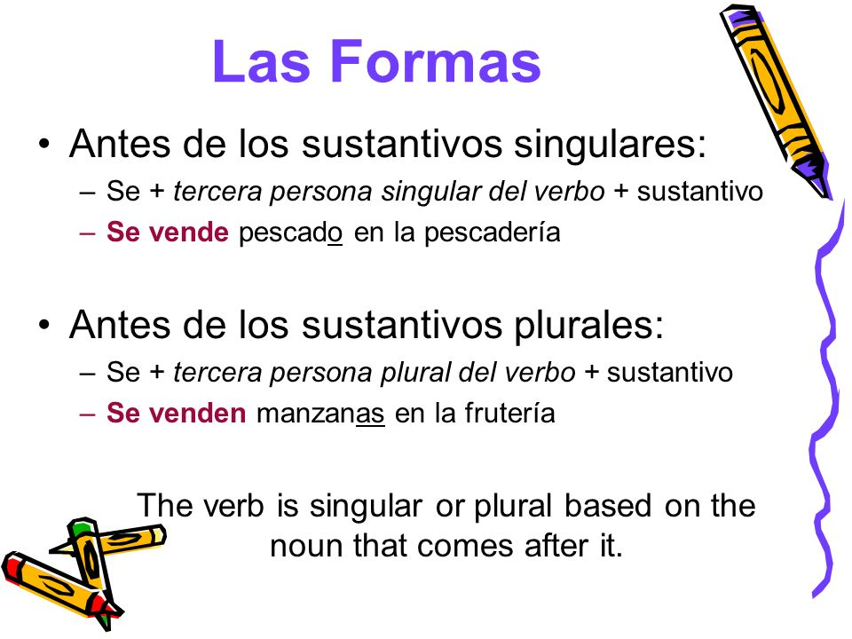 The verb is singular or plural based on the noun that comes after it.