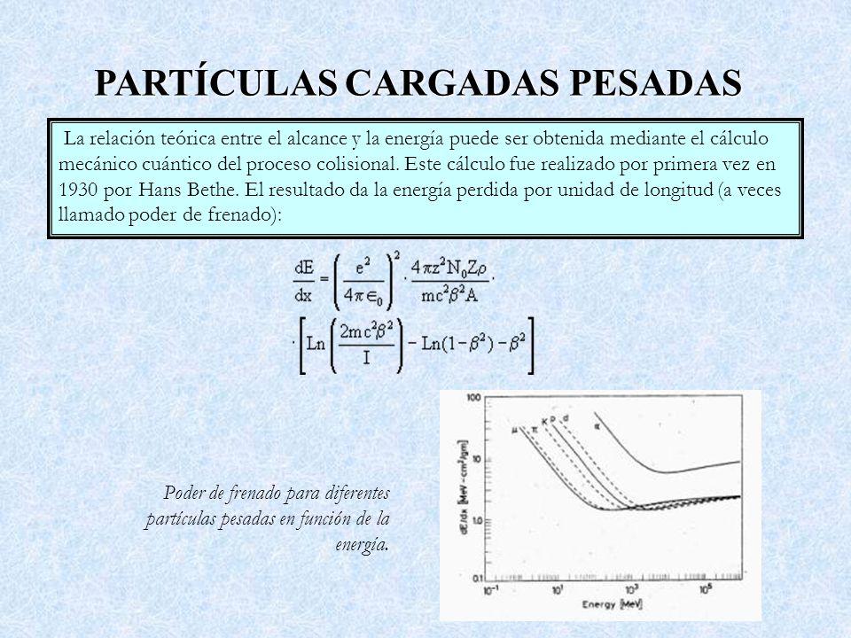 PARTÍCULAS CARGADAS PESADAS