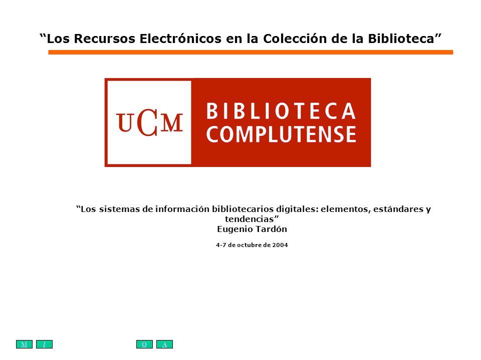 Los Recursos Electrónicos en la Colección de la Biblioteca