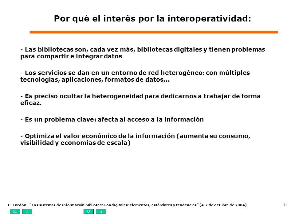 Por qué el interés por la interoperatividad:
