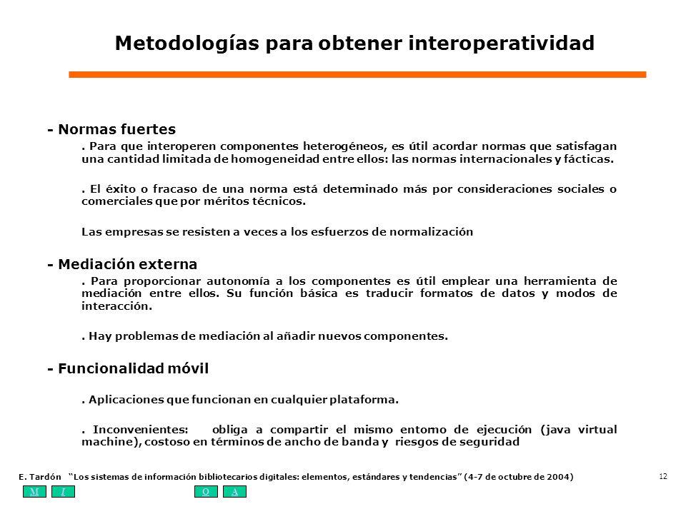 Metodologías para obtener interoperatividad