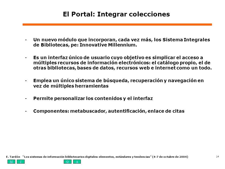 El Portal: Integrar colecciones