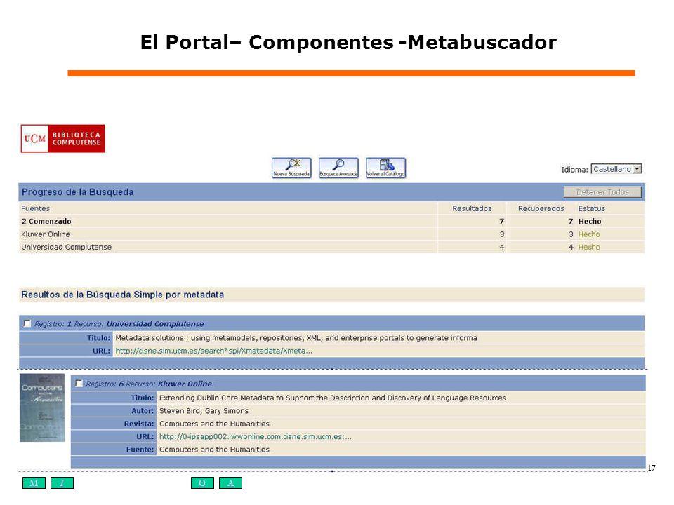 El Portal– Componentes -Metabuscador
