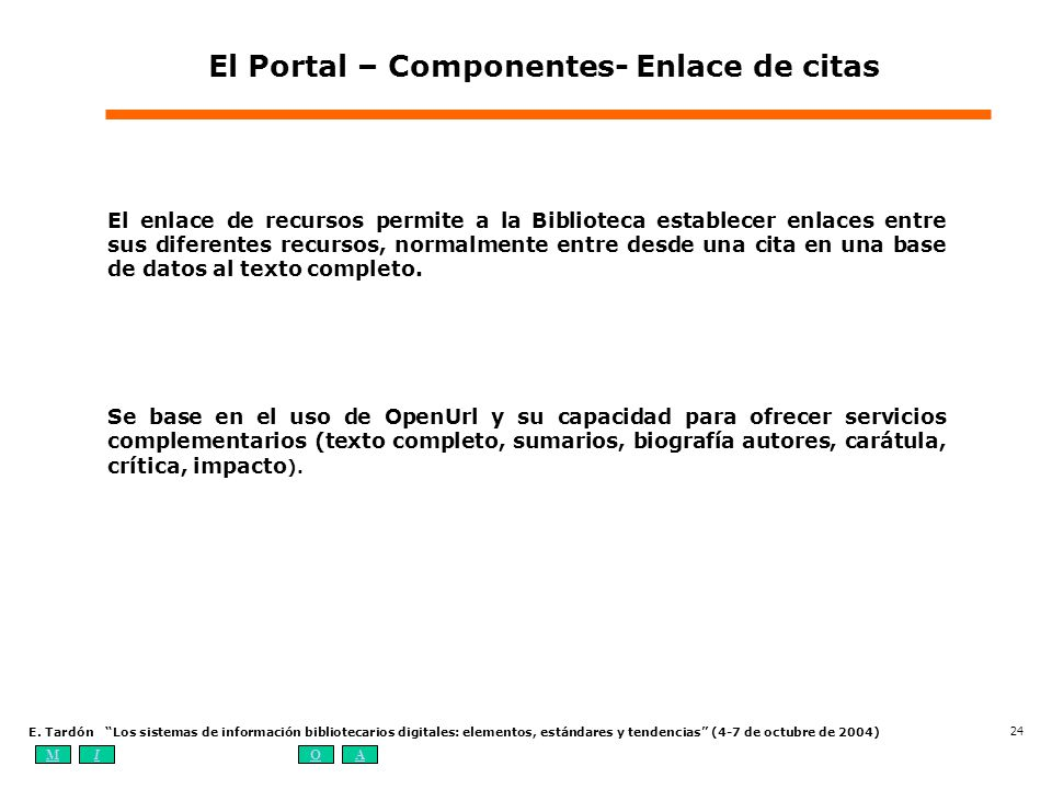 El Portal – Componentes- Enlace de citas