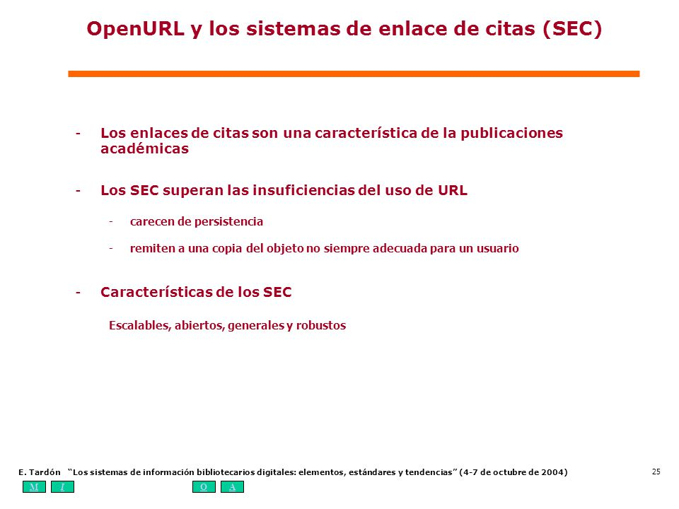 OpenURL y los sistemas de enlace de citas (SEC)