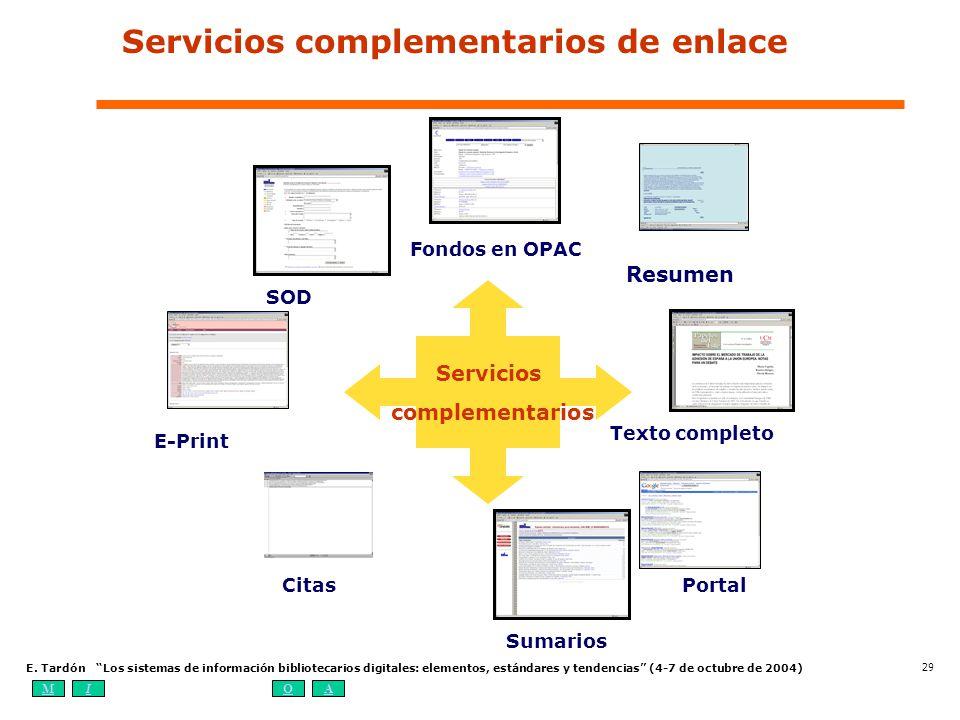 Servicios complementarios de enlace