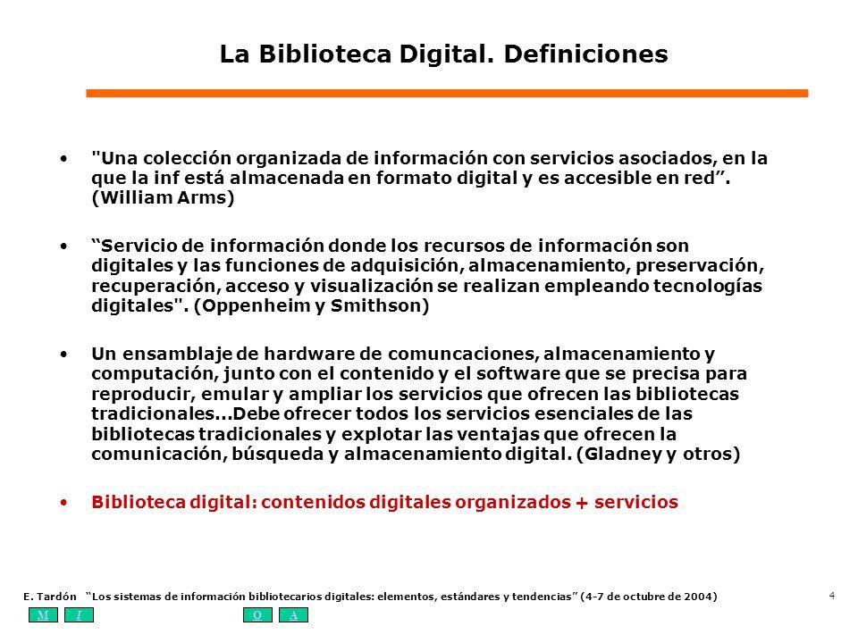 La Biblioteca Digital. Definiciones