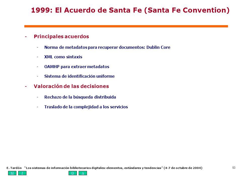 1999: El Acuerdo de Santa Fe (Santa Fe Convention)