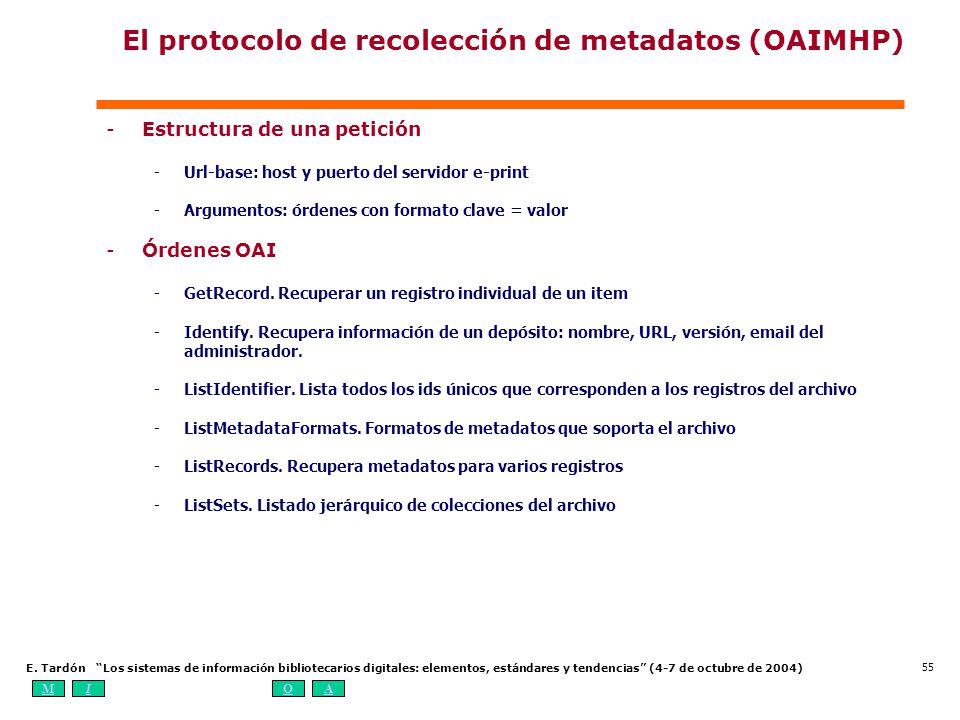 El protocolo de recolección de metadatos (OAIMHP)