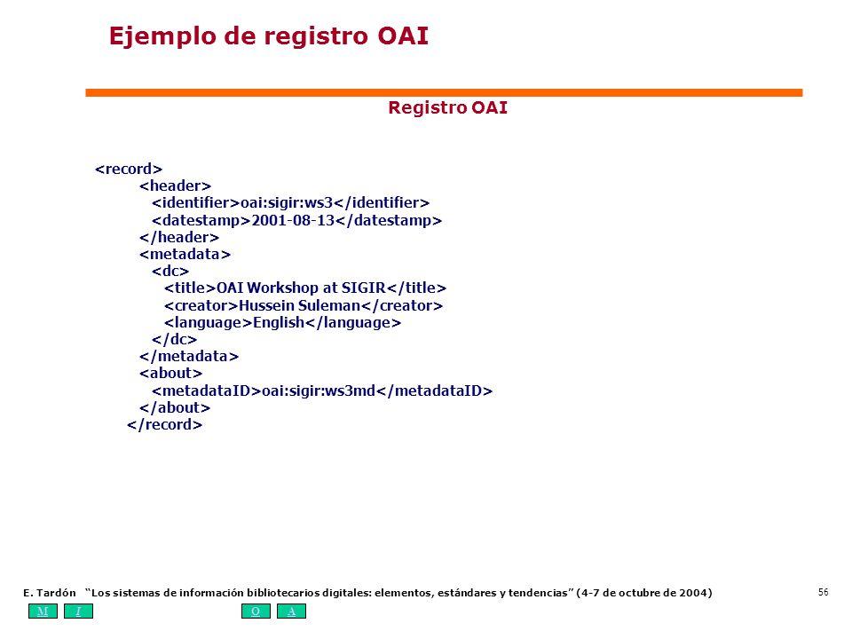 Ejemplo de registro OAI