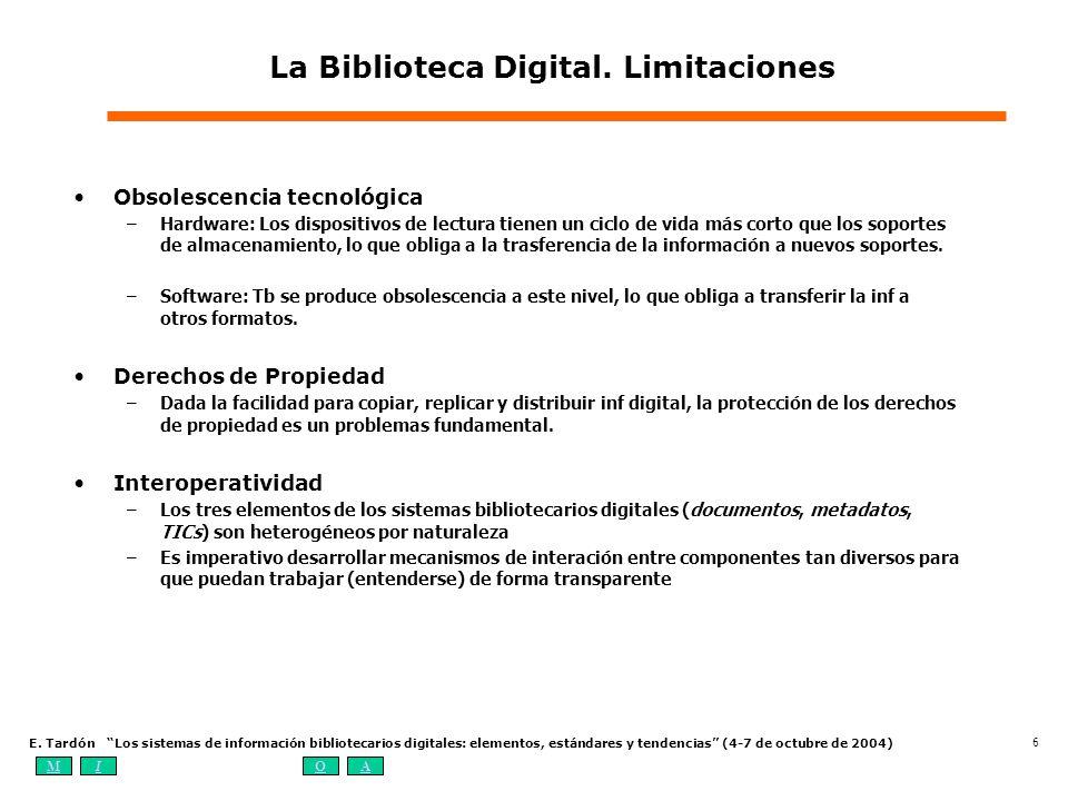 La Biblioteca Digital. Limitaciones