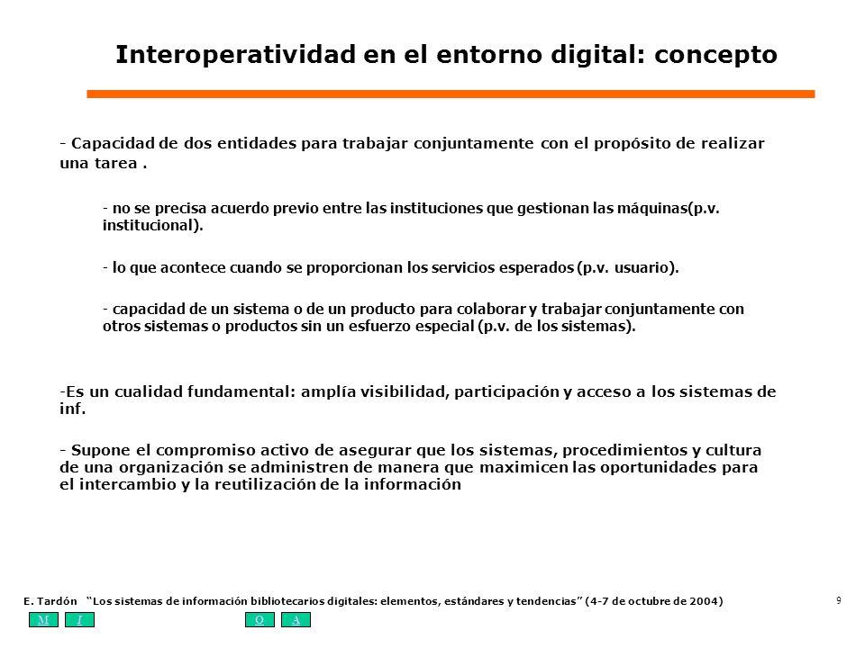 Interoperatividad en el entorno digital: concepto
