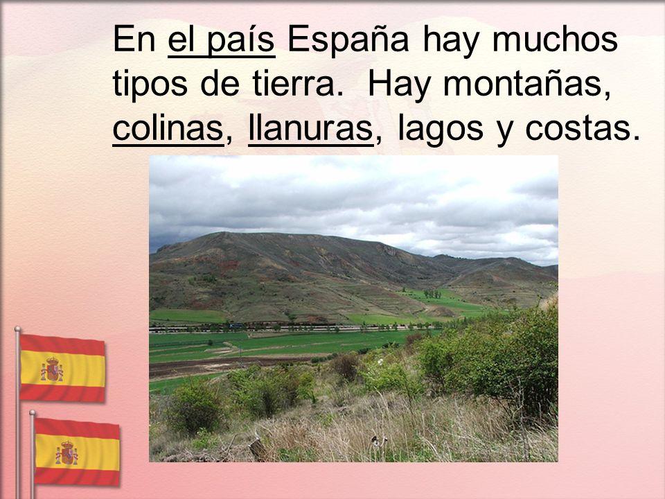 En el país España hay muchos tipos de tierra