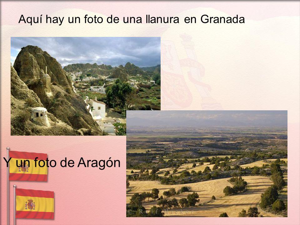 Aquí hay un foto de una llanura en Granada