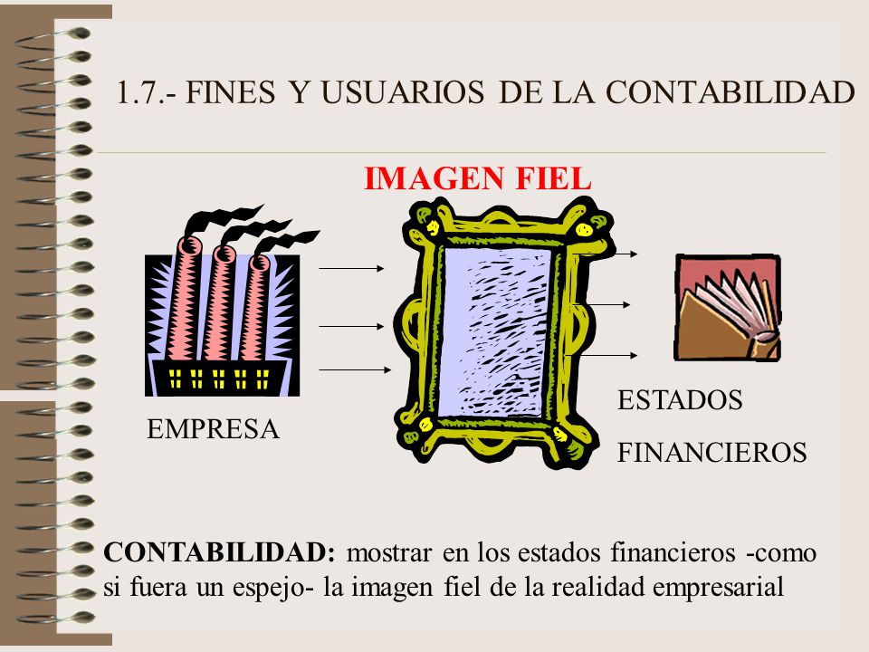 1.7.- FINES Y USUARIOS DE LA CONTABILIDAD