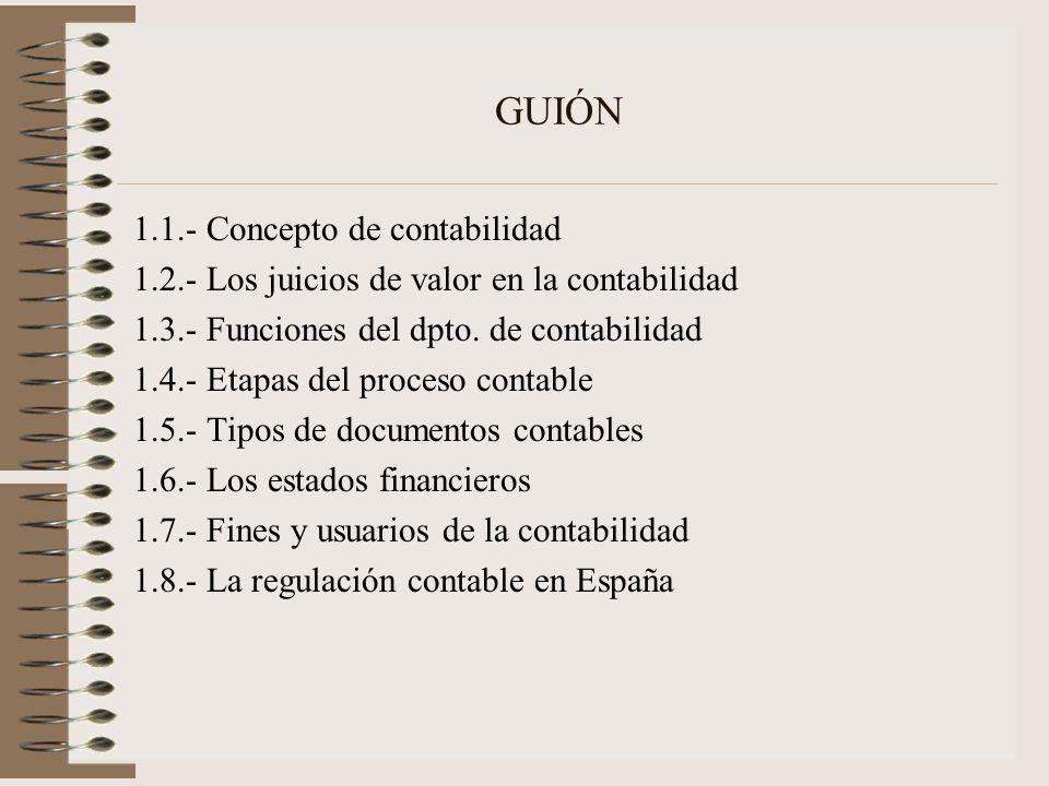 GUIÓN 1.1.- Concepto de contabilidad