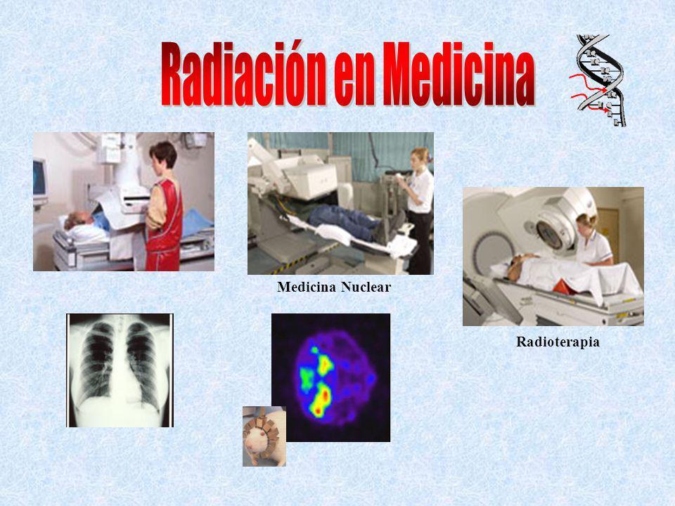 Radiación en Medicina Medicina Nuclear Radioterapia